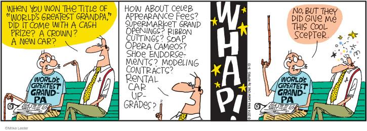Comic Strip Mike Lester  Mike du Jour 2014-09-10 senior