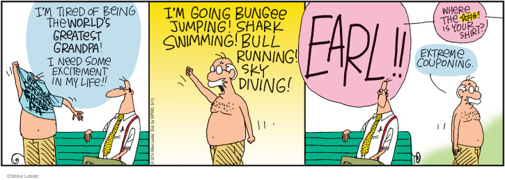 Comic Strip Mike Lester  Mike du Jour 2014-09-13 shirtless
