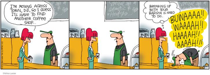 Comic Strip Mike Lester  Mike du Jour 2014-09-22 barista
