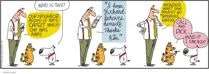 Cartoonist Mike Lester  Mike du Jour 2014-10-06 behavior