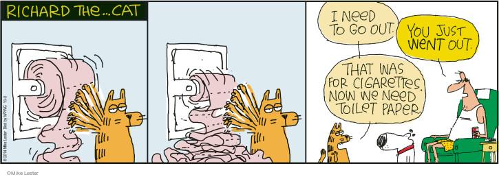 Comic Strip Mike Lester  Mike du Jour 2014-10-08 toilet