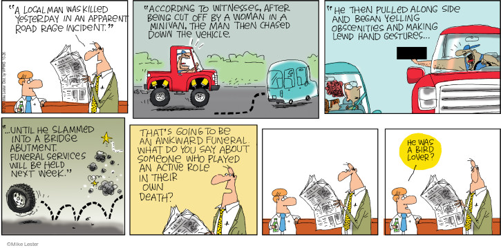 Cartoonist Mike Lester  Mike du Jour 2014-10-26 pull