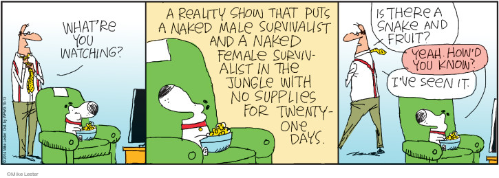 Comic Strip Mike Lester  Mike du Jour 2014-10-13 reality television