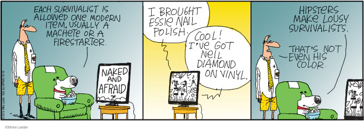 Comic Strip Mike Lester  Mike du Jour 2014-10-16 nail polish