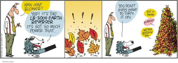 Cartoonist Mike Lester  Mike du Jour 2014-10-20 strength