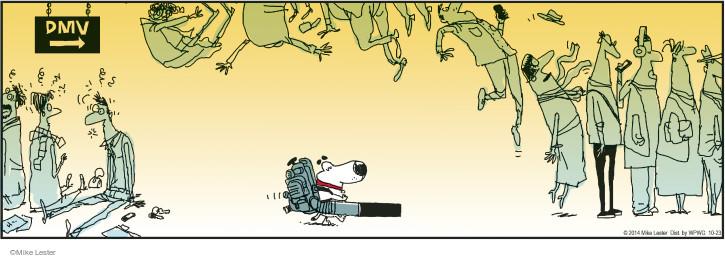 Cartoonist Mike Lester  Mike du Jour 2014-10-23 strength
