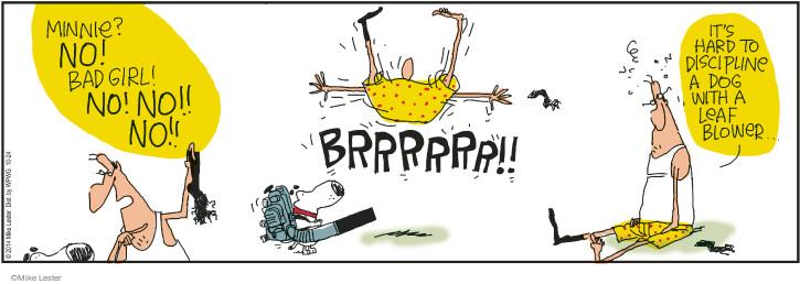 Cartoonist Mike Lester  Mike du Jour 2014-10-24 bad dog