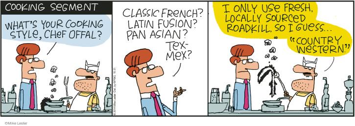 Cartoonist Mike Lester  Mike du Jour 2014-10-31 ingredient