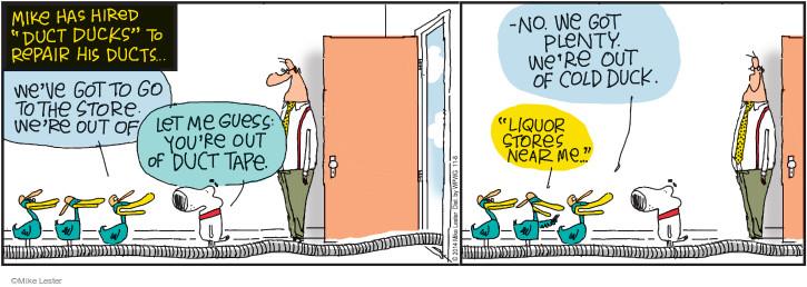 Comic Strip Mike Lester  Mike du Jour 2014-11-08 near