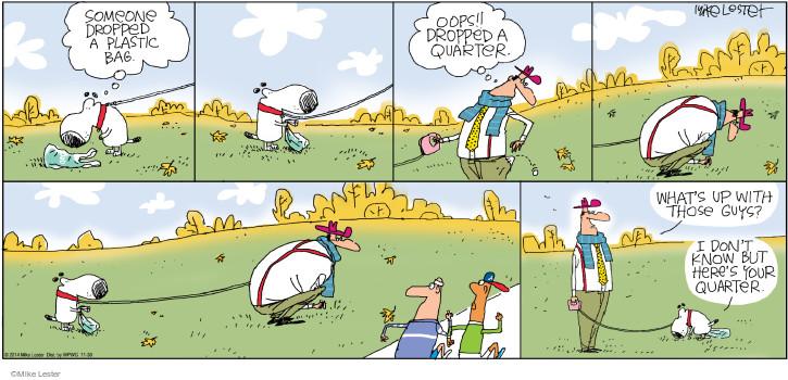 Cartoonist Mike Lester  Mike du Jour 2014-11-30 dog