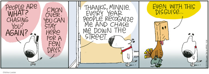 Comic Strip Mike Lester  Mike du Jour 2014-11-24 Thanksgiving