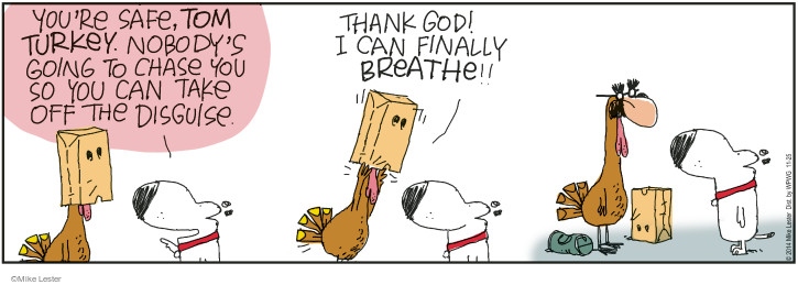 Comic Strip Mike Lester  Mike du Jour 2014-11-25 Thanksgiving