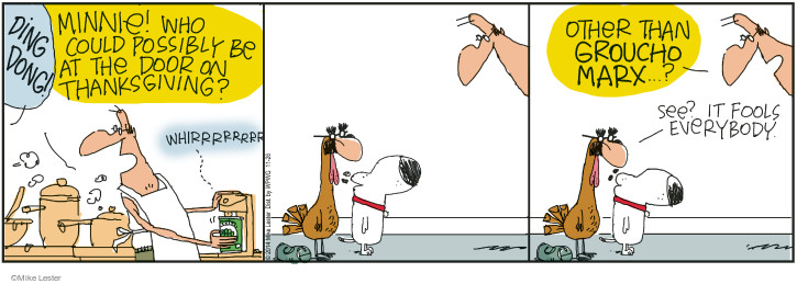 Comic Strip Mike Lester  Mike du Jour 2014-11-26 Thanksgiving
