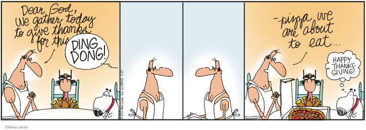 Cartoonist Mike Lester  Mike du Jour 2014-11-27 Thanksgiving turkey