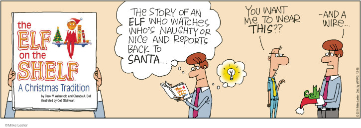 Cartoonist Mike Lester  Mike du Jour 2014-12-15 holiday tradition