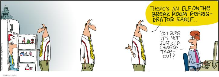 Cartoonist Mike Lester  Mike du Jour 2014-12-17 break