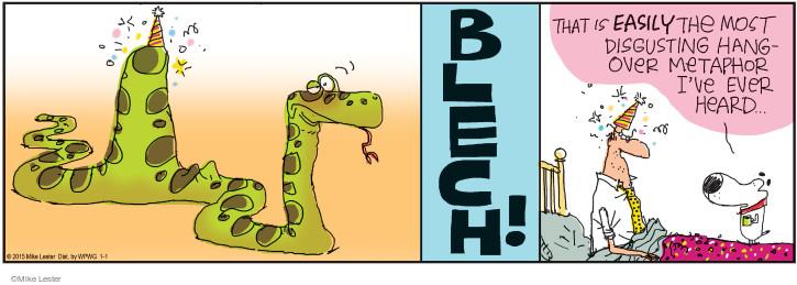 Cartoonist Mike Lester  Mike du Jour 2015-01-01 drinker