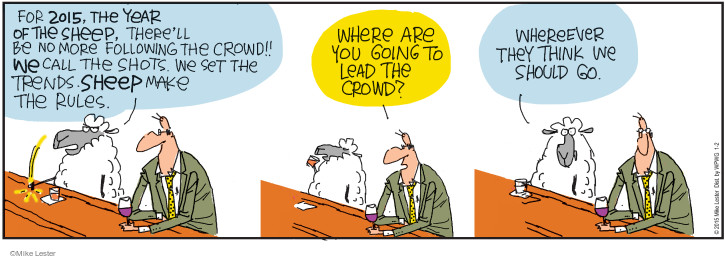 Comic Strip Mike Lester  Mike du Jour 2015-01-02 sheep