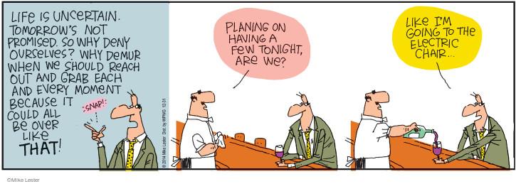 Cartoonist Mike Lester  Mike du Jour 2014-12-31 drinker