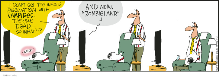 Comic Strip Mike Lester  Mike du Jour 2015-01-13 zombie movie