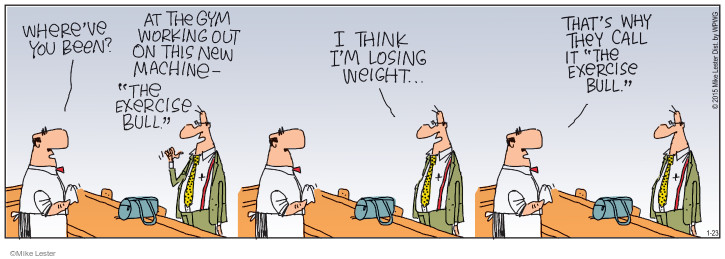 Cartoonist Mike Lester  Mike du Jour 2015-01-23 weight loss