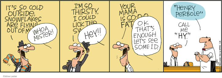 Cartoonist Mike Lester  Mike du Jour 2015-01-26 cold