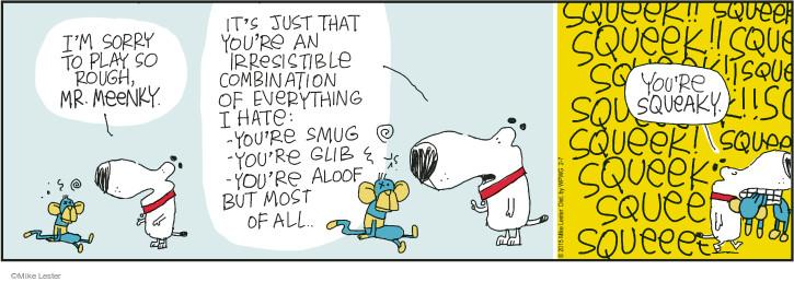 Cartoonist Mike Lester  Mike du Jour 2015-02-07 dog