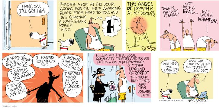 Comic Strip Mike Lester  Mike du Jour 2015-02-22 $10