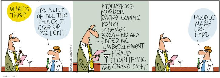 Cartoonist Mike Lester  Mike du Jour 2015-03-03 crime