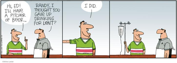 Cartoonist Mike Lester  Mike du Jour 2015-03-04 drinker