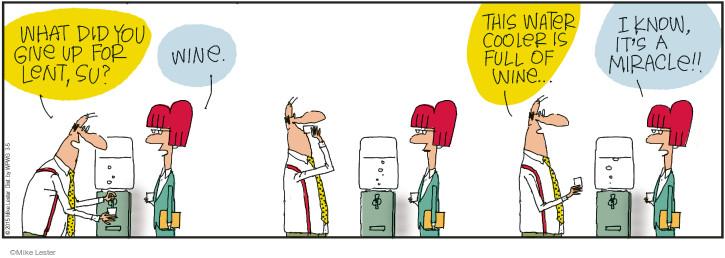 Cartoonist Mike Lester  Mike du Jour 2015-03-05 drinker
