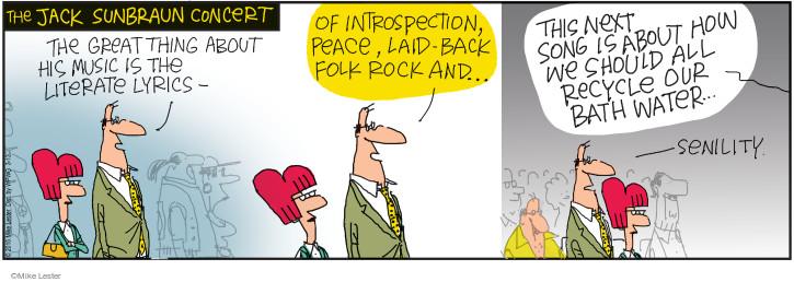 Cartoonist Mike Lester  Mike du Jour 2015-03-13 musician