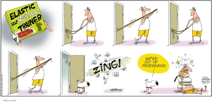 Comic Strip Mike Lester  Mike du Jour 2015-03-29 golf swing