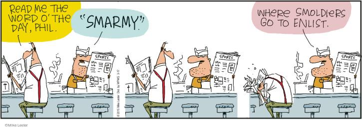 Comic Strip Mike Lester  Mike du Jour 2015-03-17 newspaper