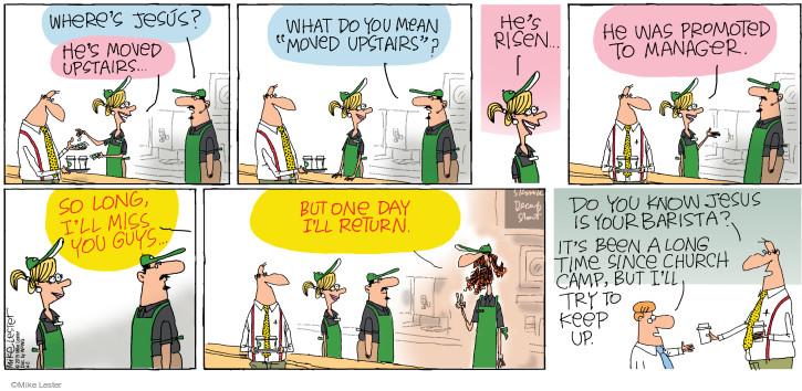 Comic Strip Mike Lester  Mike du Jour 2015-04-05 Jesus