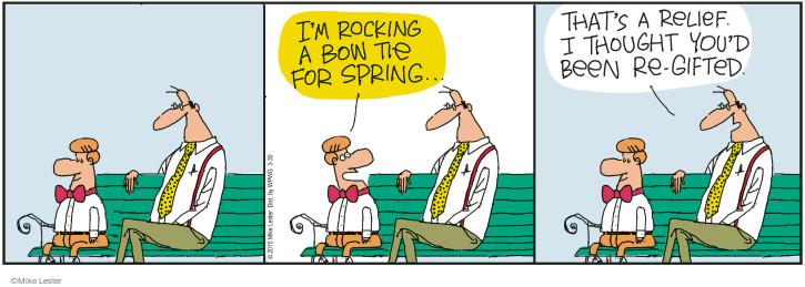 Comic Strip Mike Lester  Mike du Jour 2015-03-30 bow tie