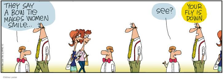 Comic Strip Mike Lester  Mike du Jour 2015-04-02 bow tie