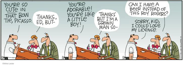 Comic Strip Mike Lester  Mike du Jour 2015-04-04 bow