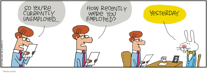 Cartoonist Mike Lester  Mike du Jour 2015-04-06 unemployment