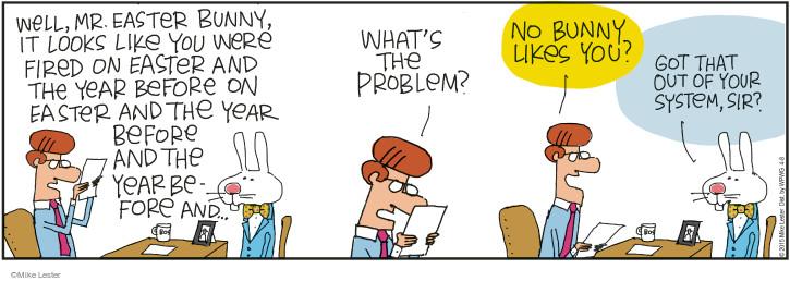 Cartoonist Mike Lester  Mike du Jour 2015-04-08 joke