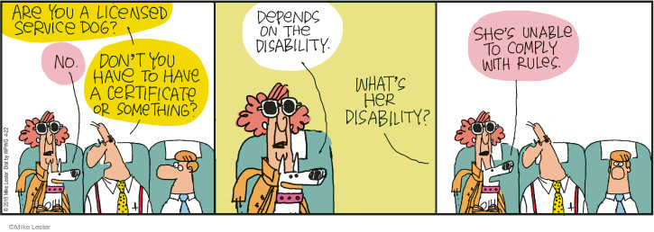 Cartoonist Mike Lester  Mike du Jour 2015-04-22 disability