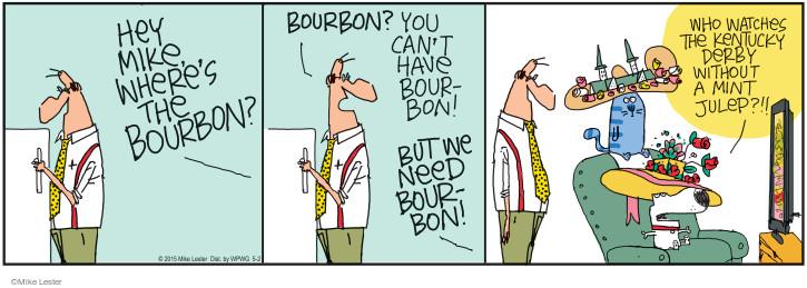 Cartoonist Mike Lester  Mike du Jour 2015-05-02 drinker