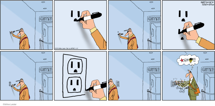 Cartoonist Mike Lester  Mike du Jour 2015-05-17 device