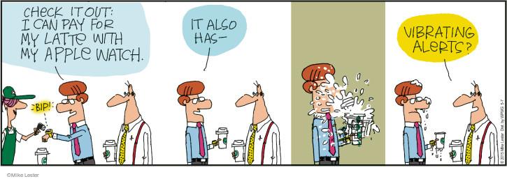 Comic Strip Mike Lester  Mike du Jour 2015-05-07 latte