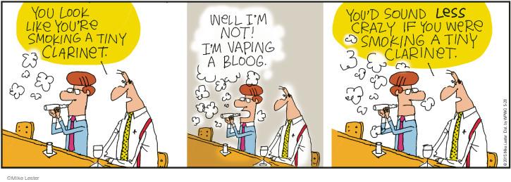 Cartoonist Mike Lester  Mike du Jour 2015-05-28 instrument