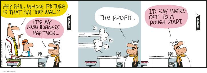 Comic Strip Mike Lester  Mike du Jour 2015-06-16 business partner
