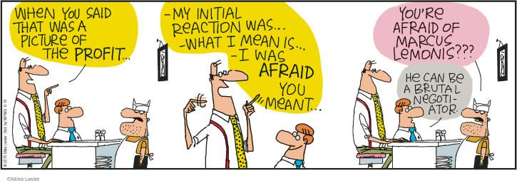 Cartoonist Mike Lester  Mike du Jour 2015-06-19 negotiation