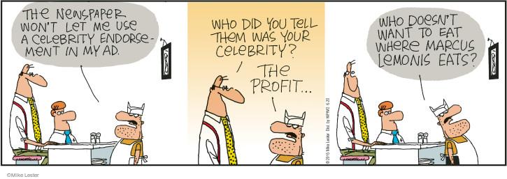 Comic Strip Mike Lester  Mike du Jour 2015-06-20 newspaper advertising