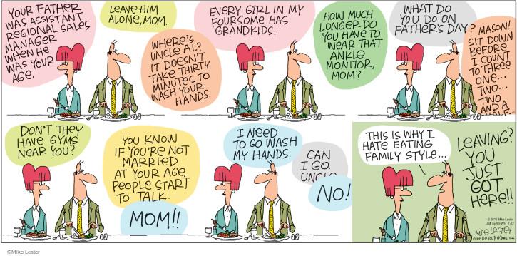 Comic Strip Mike Lester  Mike du Jour 2015-07-12 argument