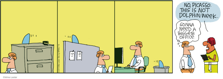 Comic Strip Mike Lester  Mike du Jour 2015-07-06 bigger office